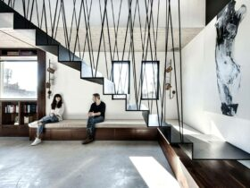Graphical Décor for Sleek Compact Penthouse